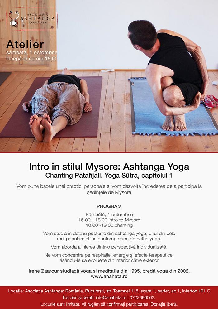curs Ashtanga Yoga, clasa yoga incepatori